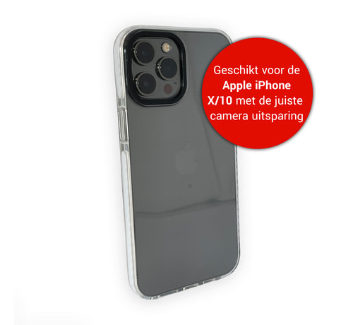 JVS Products iPhone X Backcover Bumper Hoesje - Back cover - case - Apple iPhone X - Transparant / Wit