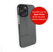JVS Products iPhone 8 Back Cover Bumper Hoesje - Backcover - Case - Apple iPhone 8 - Transparant / Zwart