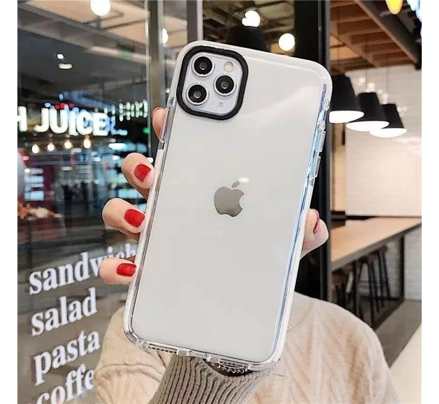 iPhone 11 Pro Backcover Bumper Hoesje - Back cover - case - Apple iPhone 11 Pro - Transparant / Wit