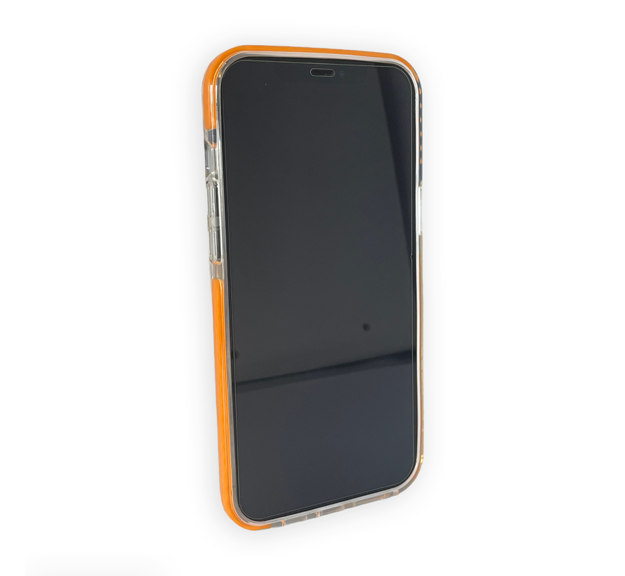 iPhone 11 Pro Max Back Cover Bumper Hoesje - Backcover - Case - Apple iPhone 11 Pro Max - Transparant / Oranje