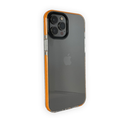 JVS Products iPhone 12 Backcover Bumper Hoesje - Back cover - case - Apple iPhone 12 - Transparant / Oranje