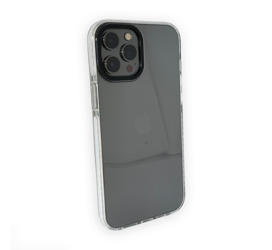 iPhone 12 Back Cover Bumper Hoesje - Backcover - Case - Apple iPhone 12 - Transparant / Wit