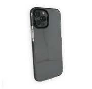 JVS Products iPhone 12 Pro Backcover Bumper Hoesje - Back cover - case - Apple iPhone 12 Pro - Transparant / Zwart
