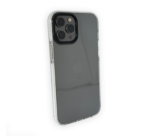 JVS Products iPhone 12 Pro Max Backcover Bumper Hoesje - Back cover - case - Apple iPhone 12 Pro Max - Transparant / Wit