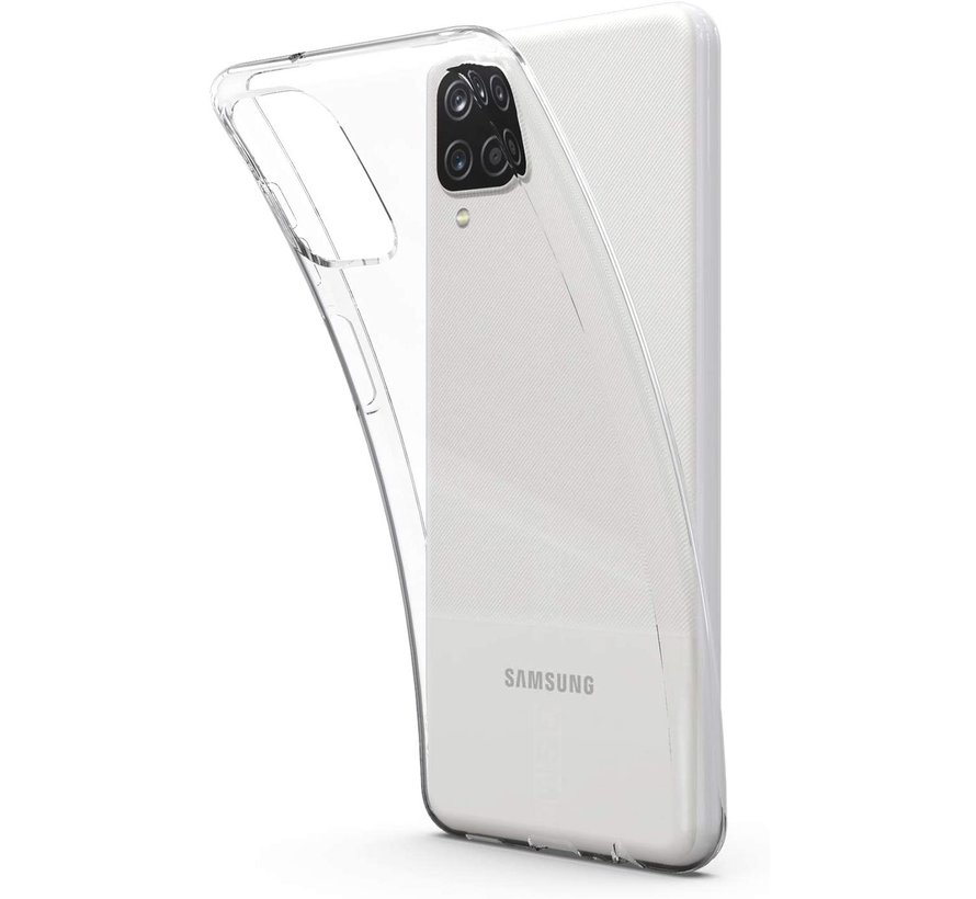 Samsung Galaxy A12 Transparant Back Cover Hoesje - Extra Dun - Siliconen - Cover- Case - Samsung Galaxy A12