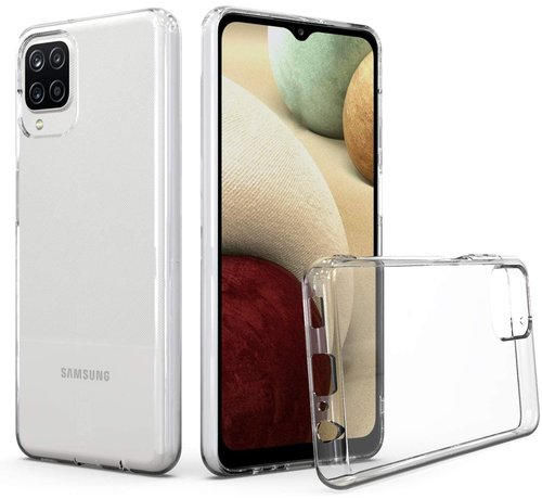 JVS Products Samsung Galaxy A12 Transparant Back Cover Hoesje - Extra Dun - Siliconen - Cover- Case - Samsung Galaxy A12