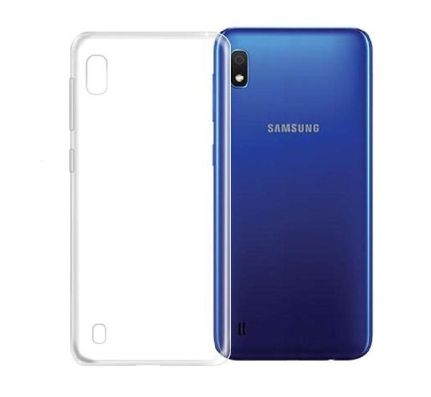 Samsung Galaxy A10 Transparant Back Cover Hoesje - Extra Dun - Siliconen - Cover- Case - Samsung Galaxy A10