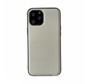 iPhone 12 Mini Back Cover Hoesje - Stof Patroon - Siliconen - Backcover - Apple iPhone 12 Mini - Wit