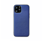 iPhone 11 Pro Back Cover Hoesje - Stof Patroon - Siliconen - Backcover - Apple iPhone 11 Pro - Blauw