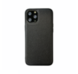 iPhone 12 Back Cover Hoesje - Stof Patroon - Siliconen - Backcover - Apple iPhone 12 - Zwart