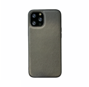 JVS Products iPhone 12 Back Cover Hoesje - Stof Patroon - Siliconen - Backcover - Apple iPhone 12 - Grijs