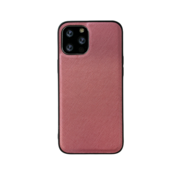 JVS Products iPhone 12 Back Cover Hoesje - Stof Patroon - Siliconen - Backcover - Apple iPhone 12 - Roze