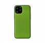 iPhone 12 Pro Back Cover Hoesje - Stof Patroon - Siliconen - Backcover - Apple iPhone 12 Pro - Groen