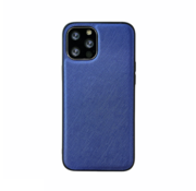 JVS Products iPhone 12 Pro Max Back Cover Hoesje - Stof Patroon - Siliconen - Backcover - Apple iPhone 12 Pro Max - Blauw