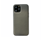 iPhone 12 Pro Max Back Cover Hoesje - Stof Patroon - Siliconen - Backcover - Apple iPhone 12 Pro Max - Grijs