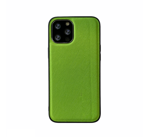 JVS Products iPhone 12 Pro Max Back Cover Hoesje - Stof Patroon - Siliconen - Backcover - Apple iPhone 12 Pro Max - Groen