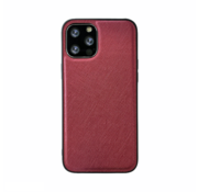 JVS Products iPhone 12 Pro Max Back Cover Hoesje - Stof Patroon - Siliconen - Backcover - Apple iPhone 12 Pro Max - Rood