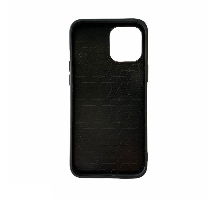 iPhone 12 Pro Max Back Cover Hoesje - Stof Patroon - Siliconen - Backcover - Apple iPhone 12 Pro Max - Donkergroen