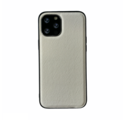 JVS Products iPhone 12 Pro Back Cover Hoesje - Stof Patroon - Siliconen - Backcover - Apple iPhone 12 Pro - Wit