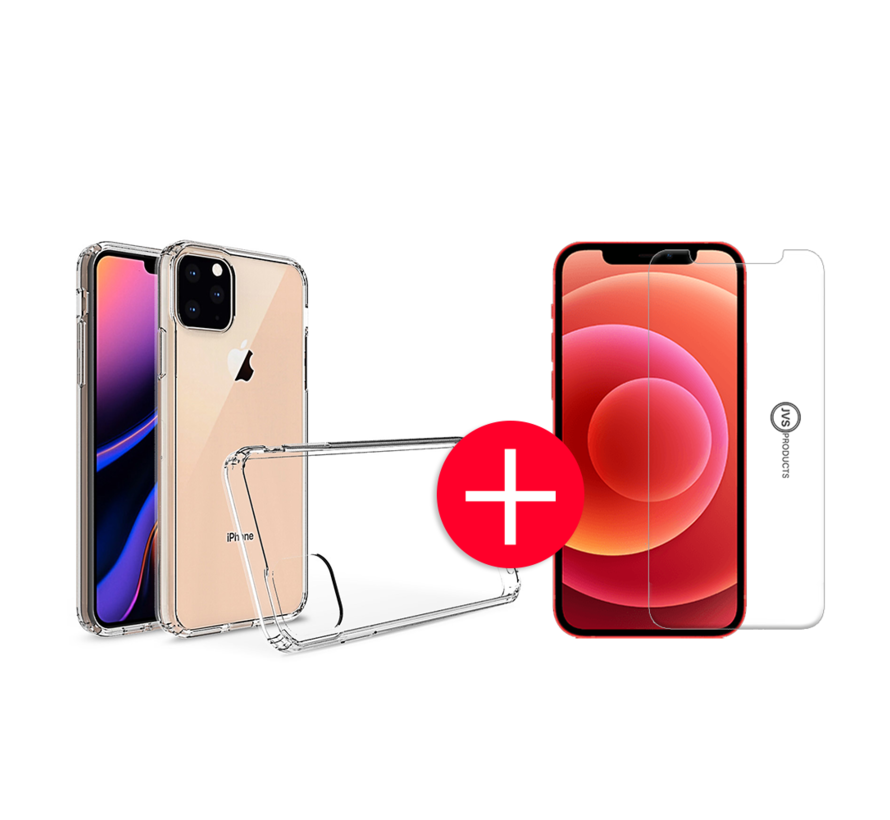 iPhone 11 Pro Anti-Shock Hoesje + GRATIS Screenprotector - Transparant - Extra - Dun - Apple iPhone 11 Pro hoes - cover - case - Screenprotector kit