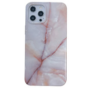 JVS Products iPhone 7 Back Cover Hoesje Marmer - Marmerprint - Marble Design - Soft TPU - Backcover - Apple iPhone 7 - Marmer Beige / Wit