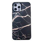 JVS Products iPhone 11 Pro Max Back Cover Hoesje Marmer - Marmerprint - Marble Design - Soft TPU - Backcover - Apple iPhone 11 Pro Max - Marmer Zwart