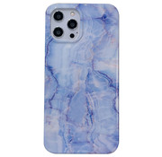 JVS Products iPhone 8 Back Cover Hoesje Marmer - Marmerprint - Marble Design - Soft TPU - Backcover - Apple iPhone 8 - Marmer Blauw / Paars