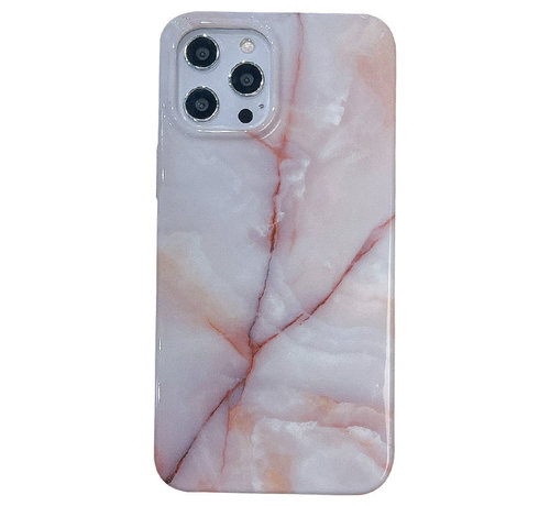 JVS Products iPhone XS Max Back Cover Hoesje Marmer - Marmerprint - Marble Design - Soft TPU - Backcover - Apple iPhone XS Max - Marmer Beige / Wit