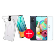 JVS Products Samsung A71 Transparant Hoesje + GRATIS Screenprotector - Transparant - Extra Dun - Samsung A71 - Hoes - Cover - Case - Screenprotector kit