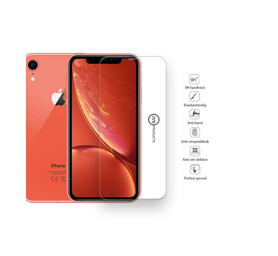 iPhone XR Tempered Glass Screenprotector Protection Kit - Apple iPhone XR - Screen Protector Set