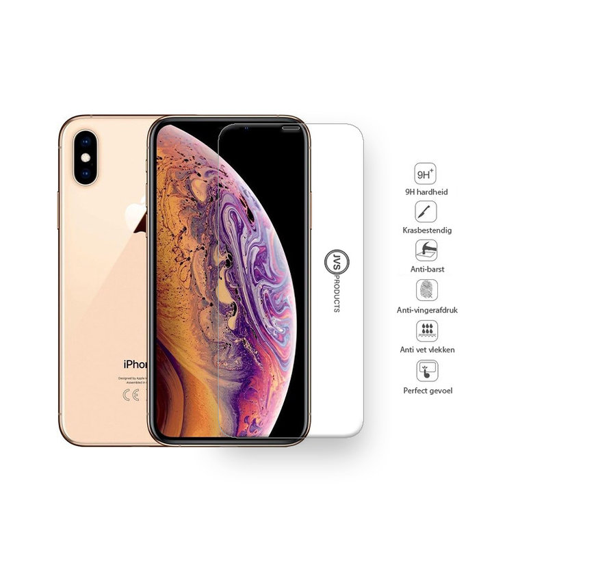 iPhone XS Max Tempered Glass Screenprotector Protection Kit - Apple iPhone XS Max - Screen Protector Set