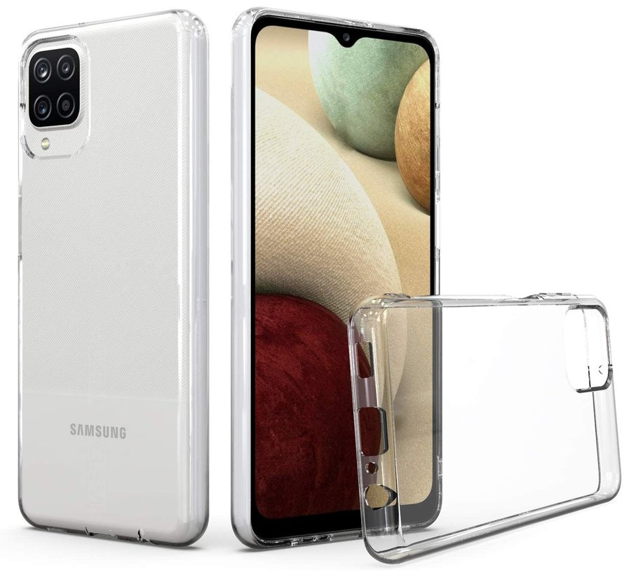 Samsung Galaxy A12 Transparant Hoesje + GRATIS Screenprotector - Transparant - Extra Dun - Samsung Galaxy A12 - Hoes - Cover - Case - Screenprotector kit