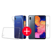 JVS Products Samsung A10 Transparant Hoesje + GRATIS Screenprotector - Transparant - Extra Dun - Samsung A10 - Hoes - Cover - Case - Screenprotector kit