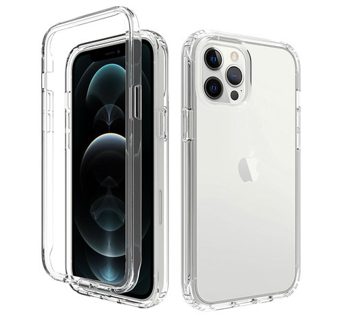 JVS Products iPhone 7 Full Body Hoesje - 2-delig - Back Cover - Siliconen - Case - TPU - Schokbestendig - Apple iPhone 7 - Transparant