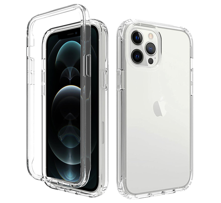 iPhone 7 Full Body Hoesje - 2-delig - Back Cover - Siliconen - Case - TPU - Schokbestendig - Apple iPhone 7 - Transparant