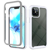 JVS Products iPhone 7 Full Body Hoesje - 2-delig - Rugged - Back Cover - Siliconen - Case - TPU - Schokbestendig - Apple iPhone 7 - Transparant / Wit