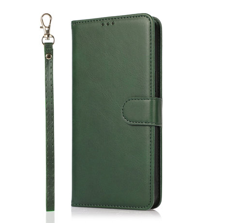 JVS Products Samsung Galaxy A41 Book Case hoesje 2 in 1 met koord - Back Cover - Magneetsluiting - Pasjeshouder - Kunstleer - Flipcase Hoesje - Samsung Galaxy A41 - Groen