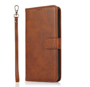 JVS Products Samsung Galaxy A51 Book Case hoesje 2 in 1 met koord - Back Cover - Magneetsluiting - Pasjeshouder - Kunstleer - Flipcase Hoesje - Samsung Galaxy A51 - Bruin