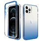iPhone XS Max Full Body Hoesje - 2-delig - Back Cover - Siliconen - Case - TPU - Schokbestendig - Apple iPhone XS Max - Transparant / Blauw
