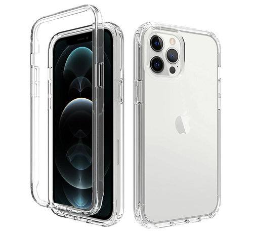 JVS Products iPhone 12 Pro Full Body Hoesje - 2-delig - Back Cover - Siliconen - Case - TPU - Schokbestendig - Apple iPhone 12 Pro - Transparant