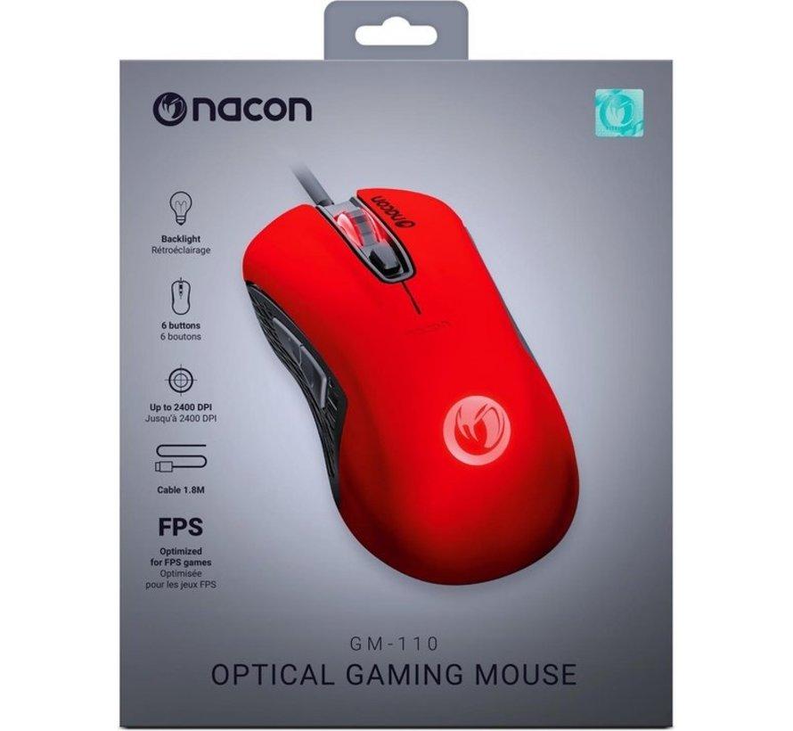 Nacon GM-110 Optische Gaming Muis voor PC - Rood kopen