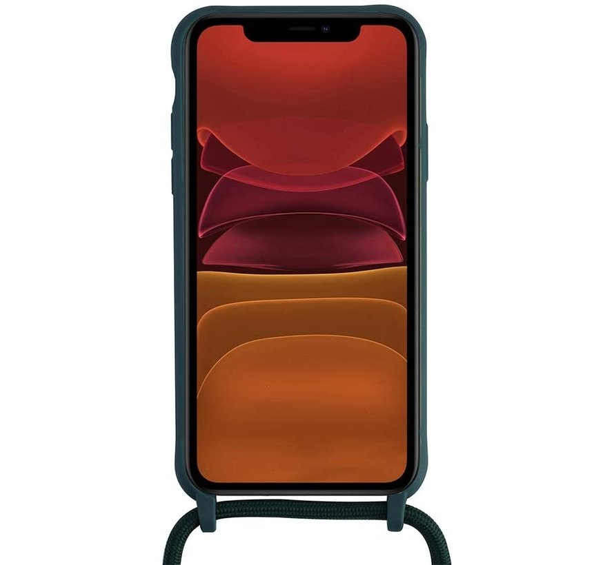 Samsung Galaxy A51 Back Cover Hoesje met Koord - Back Cover - Silliconen - Flexibel - Koord - Samsung Galaxy A51 - Rood