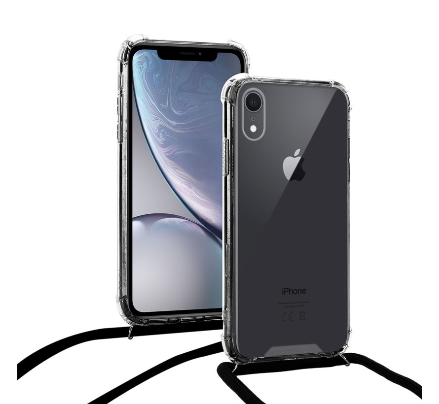 Samsung Galaxy A41 Back Cover Hoesje met Koord - Backcover - Silliconen - Flexibel - Koord - Samsung Galaxy A41 - Transparant