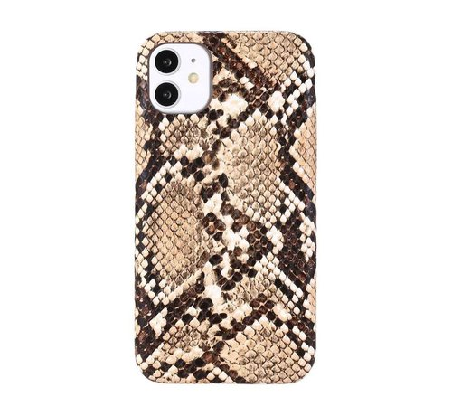 JVS Products iPhone XS Max Slangen Print Back Cover Hoesje - Patroon - TPU - Soft Case - Apple iPhone XS Max - Bruin
