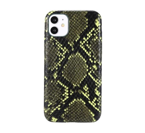 JVS Products iPhone 11 Pro Max Slangen Print Back Cover Hoesje - Patroon - TPU - Soft Case - Apple iPhone 11 Pro Max - Donkergroen