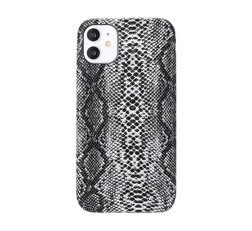 JVS Products iPhone 12 Pro Max Slangen Print Back Cover Hoesje - Patroon - TPU - Soft Case - Apple iPhone 12 Pro Max - Wit