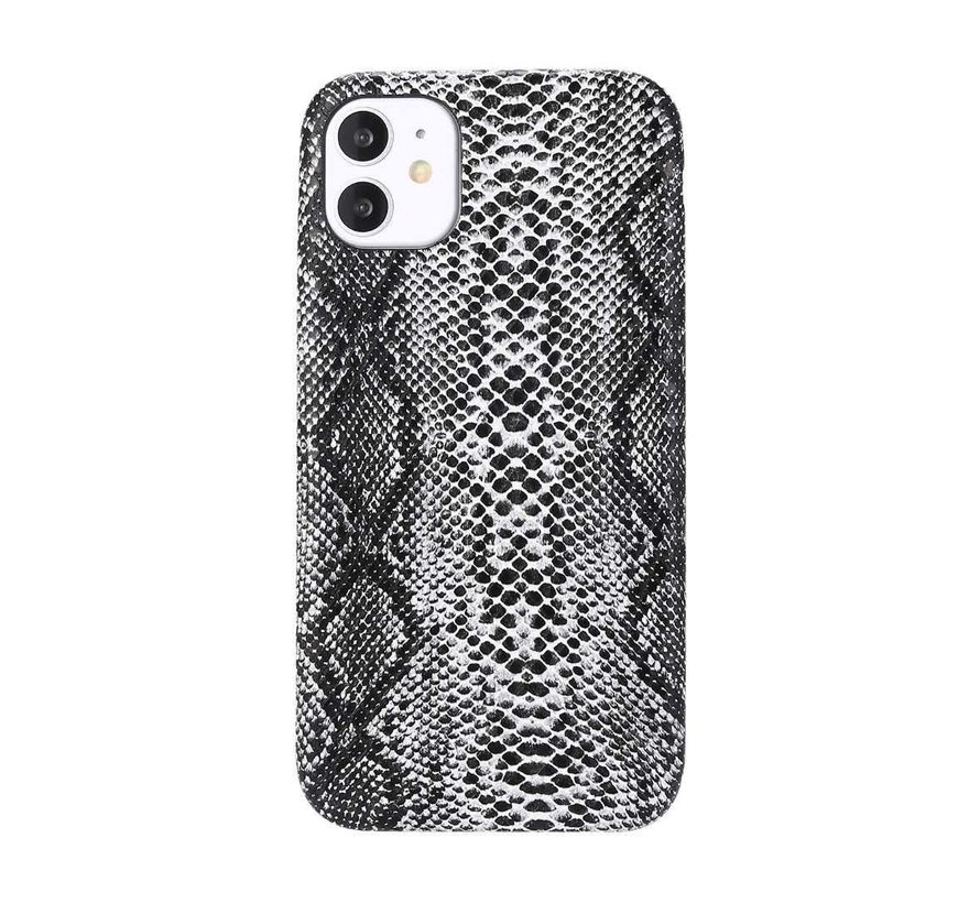 iPhone 12 Pro Max Slangen Print Back Cover Hoesje - Patroon - TPU - Soft Case - Apple iPhone 12 Pro Max - Wit