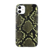 JVS Products iPhone 12 Pro Max Slangen Print Back Cover Hoesje - Patroon - TPU - Soft Case - Apple iPhone 12 Pro Max - Donkergroen