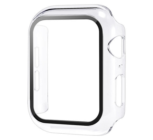 JVS Products Apple Watch 38MM Full Cover Hoesje + Screenprotector - Kunststof - TPU - Apple Watch Case - Transparant