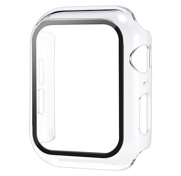 JVS Products Apple Watch 44MM Full Cover Hoesje + Screenprotector - Kunststof - TPU - Apple Watch Case - Transparant